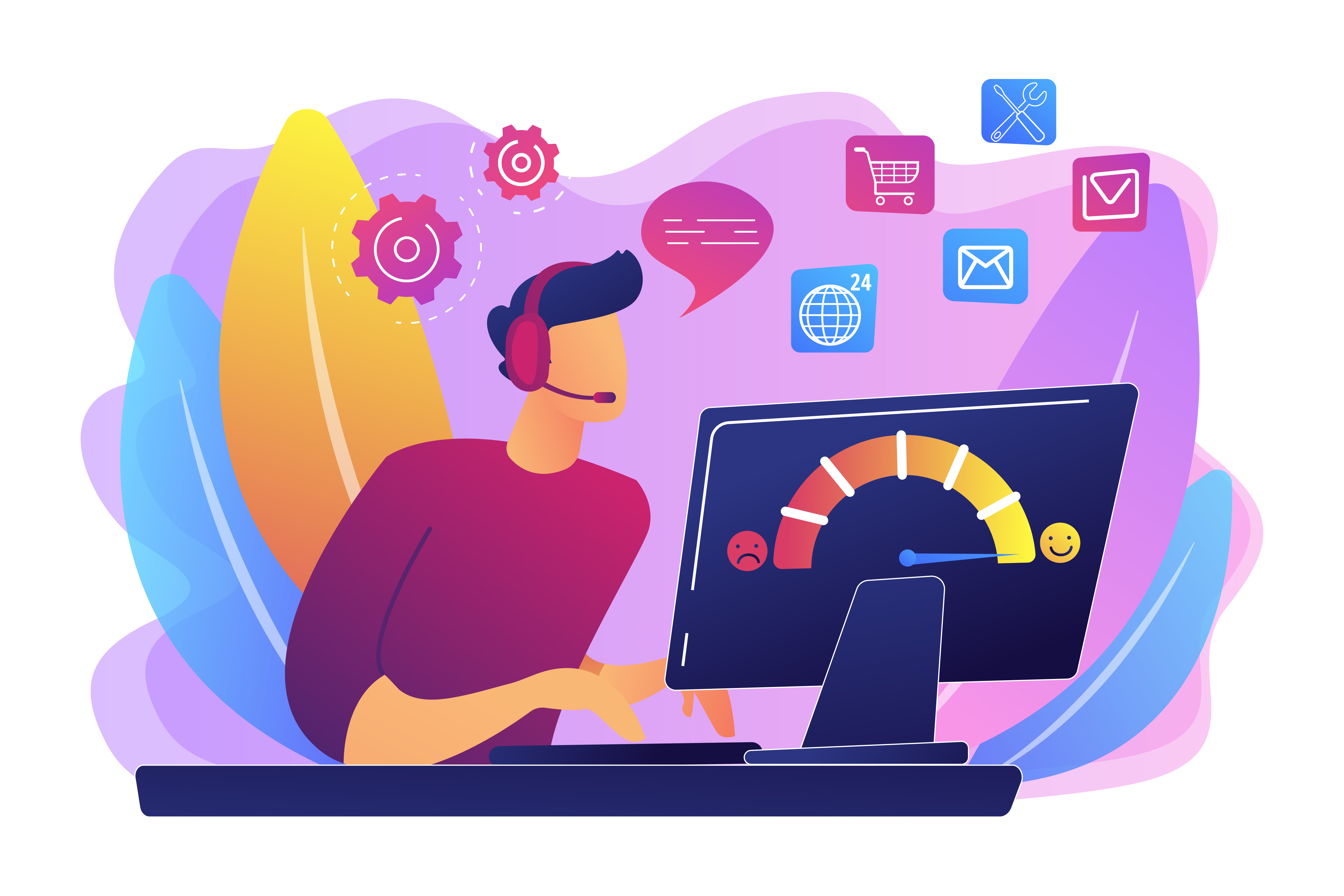 Customer care concept vector illustration