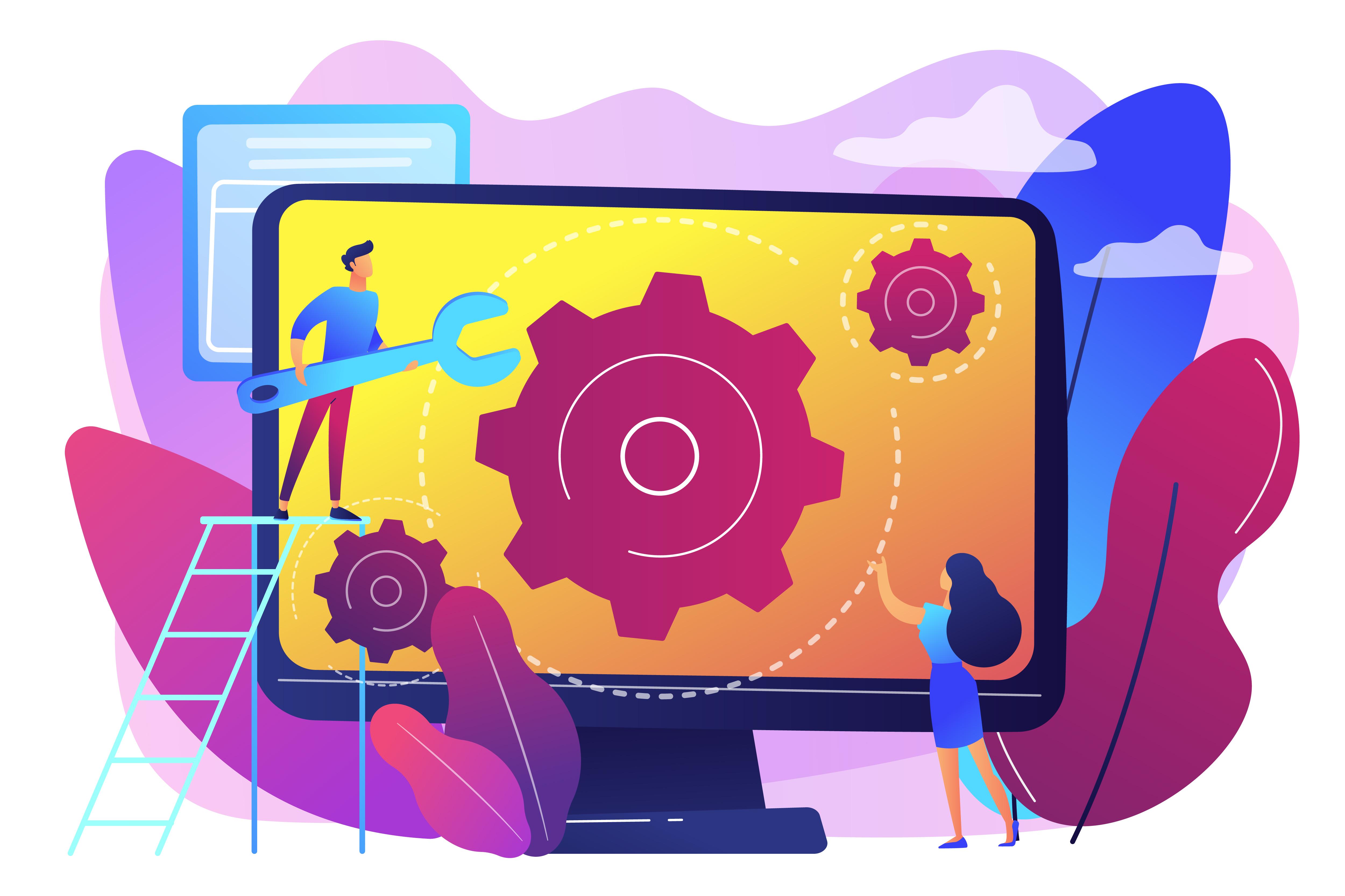 Computer service concept vector illustration.